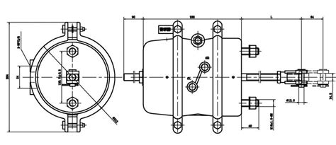 air brake chamber diagram type 3030 brake chamber assembly