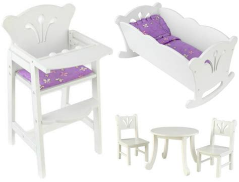 kidkraft lil doll table and chairs set white unique gifts ages 3 6