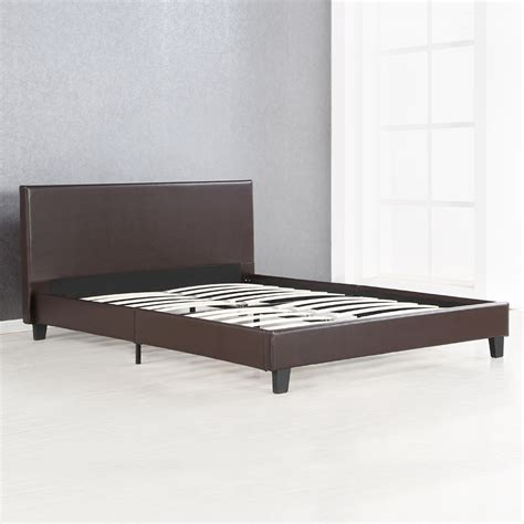 wood slat bed frame twin full queen king linen platform bed frames with wood