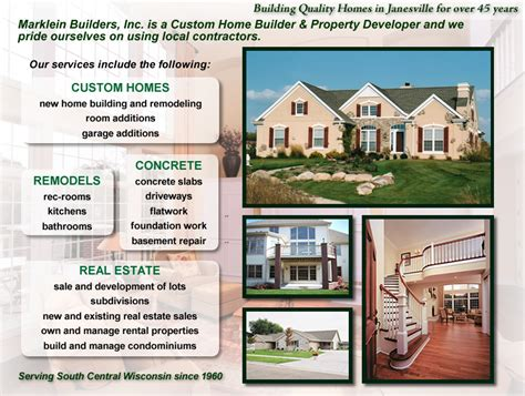 marklein builders inc is a custom home builder