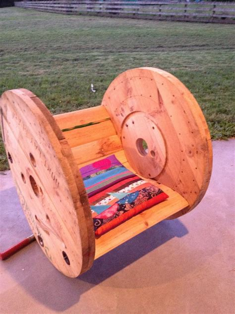 Cable Reel Rocking Chair by 13 Amazing Ways To Repurpose Cable Spools