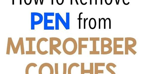 how to remove pen from couch how to remove pen from microfiber couches on http