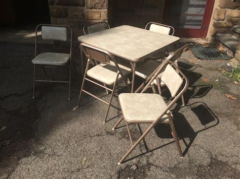 samsonite folding chairs and table samsonite folding table and 6 chairs attainable vintage