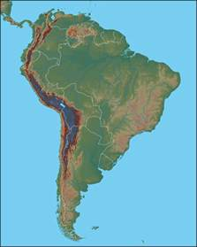 south america map with mountains gacekblog geo quiz 32 south america physical features
