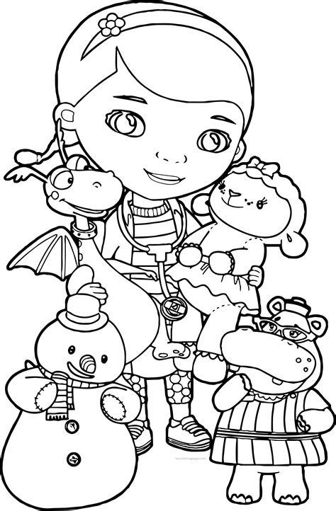 coloring pages of doc mcstuffins doc mcstuffins coloring pages wecoloringpage pinterest