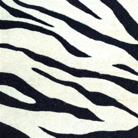 wool zebra rug craft zebra animal print wool rug in white black 8 x 8