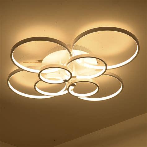 Ceiling Chandeliers Modern Modern Thin Circel Rings Led Ceiling Chandelier L Living Room Bedroom Led Lighting