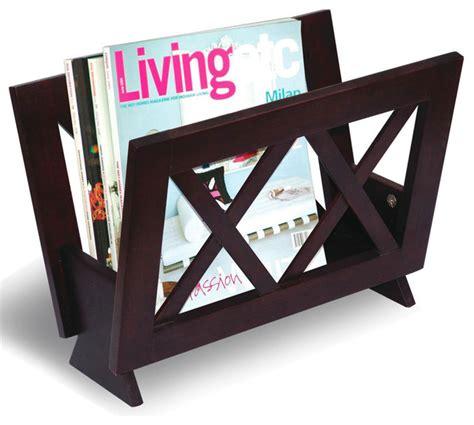 cappuccino magazine rack modern magazine racks by