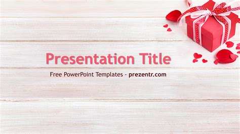 Gift Powerpoint Template Free Romantic Gift Powerpoint Template Prezentr