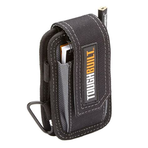 toughbuilt smart phone pouch black tb 33 the home depot