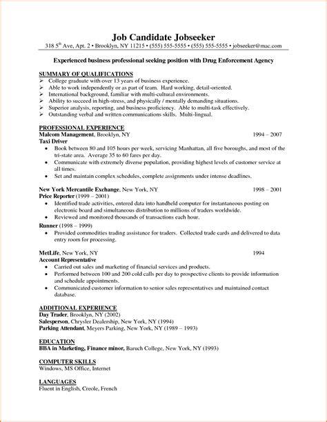 Business Management Sle Resume Cover Letter For Resume Business Administration 28