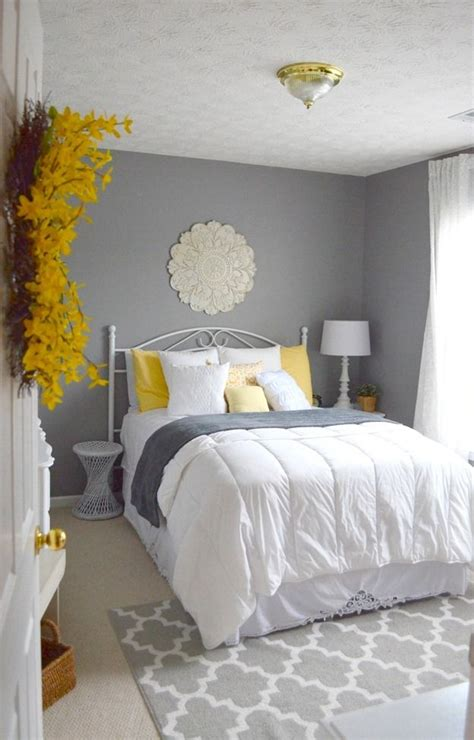 yellow white grey bedroom ikea accent wall and furniture combinations 17 best