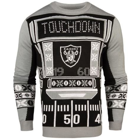 Oakland Raiders Nfl Mens Light Up Sweater