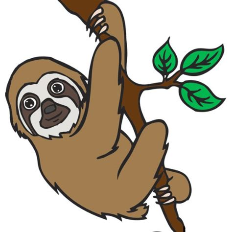 sloth clipart three toed sloth clipart clipground