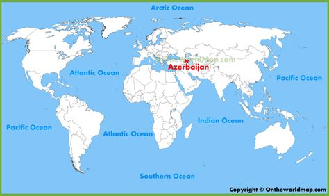 where is azerbaijan on a world map azerbaijan location on the world map