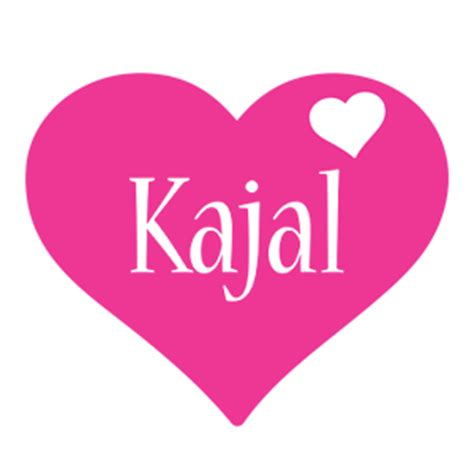name style design kajal logo name logo generator i love love heart