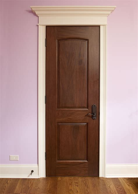 Interior Door Custom Single Solid Wood With Walnut Solid Oak Interior Doors