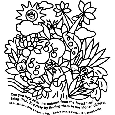 Hidden Animals Coloring Page Crayola Com Where Can You Find Coloring Books