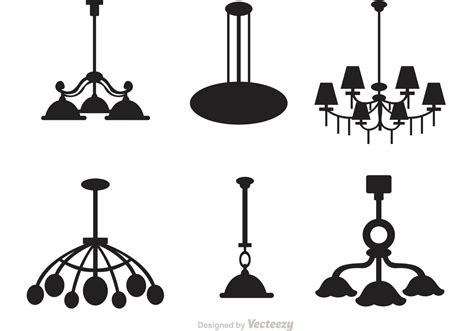 Chandelier Antique Chandelier Silhouette Vector Set Download Free Vector