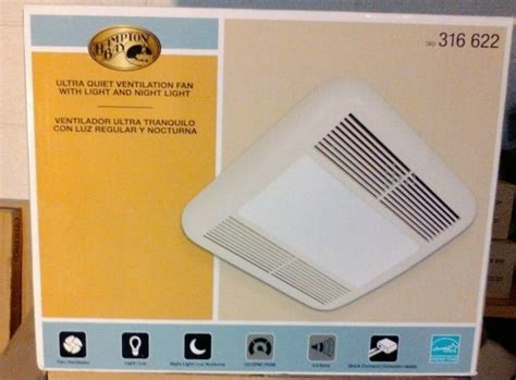 hton bay bathroom fan hton bay bathroom vent fan with light diggerslist