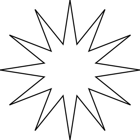12 pointed star clipart 36