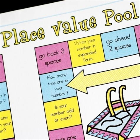 printable math games on place value place value pool printable math game and skill sheet
