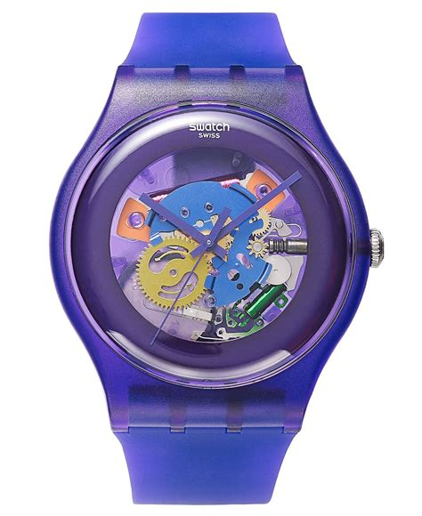 Swatch 1 Purple swatch unisex swiss purple lacquered purple