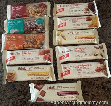 Protein Bar Gift Card - thinkthin protein bars review and 25 visa gift card giveaway
