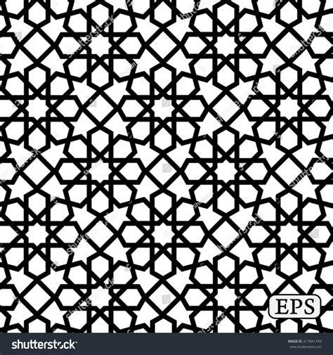 islamic pattern vector ai geometrical arabic islamic pattern background stock vector
