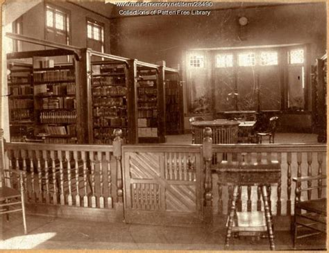 patten free library maine patten free library interior ca 1891 maine memory network