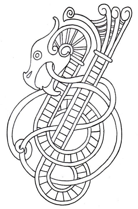 viking dragon outline 2 by vikingtattoo on deviantart