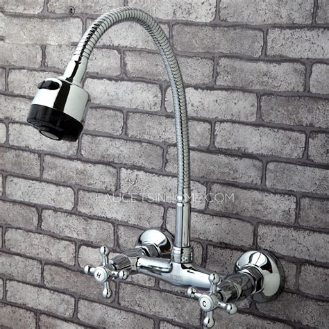 wall mounted kitchen sink faucets rotatable wall mounted kitchen sink faucet