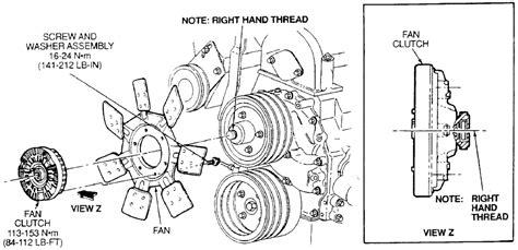 7 3 powerstroke fan clutch nut size 2007 scion tc 2 4l mfi dohc 4cyl repair guides engine
