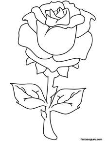 valentine roses colouring pages