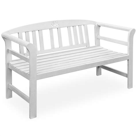 garden bench white wooden garden bench seater balcony outdoor benches seating