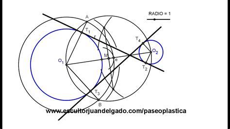 tangentes interiores a dos circunferencias rectas tangentes interiores a dos circunferencias
