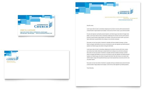 community church business card letterhead template