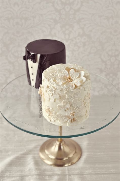 Mini Wedding Cakes by Mini Vintage Wedding Cakes I Sugar Coat It