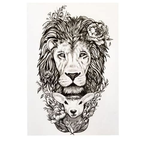 lion and lamb tattoo designs best 25 ideas on