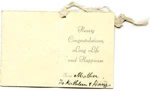 crout k and h message in wedding card seeking susan meeting finding family