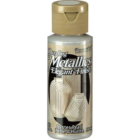acrylic paint pearl decoart dazzling metallics 2 oz oyster pearl acrylic