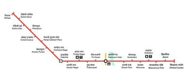 Metro Redline Map delhi metro red line train guide timings map latest news