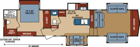 durango 5th wheel floor plans new 2018 k z inc durango gold g385flf fifth wheel