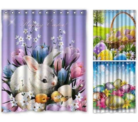 Bathroom Sets With Shower Curtain Shower Curtains For Easter Decor Eggciting Easter