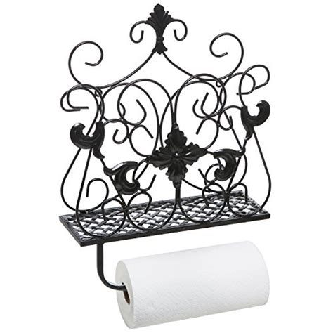 Toilet Paper Scroll Game by Antique Style Scrollwork Design Metal Wall Mounted Paper