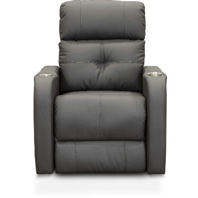 gray  piece power reclining home theater seating