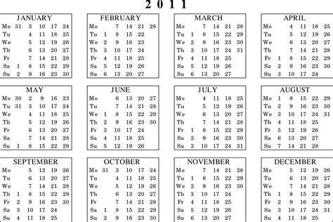 Calendar Of 2011 2011 Calendar Version 2 By Pomprint On Deviantart
