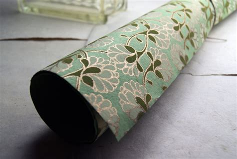 Handmade Gift Wrapping Paper - green flower print handmade wrapping paper gift wrap set of
