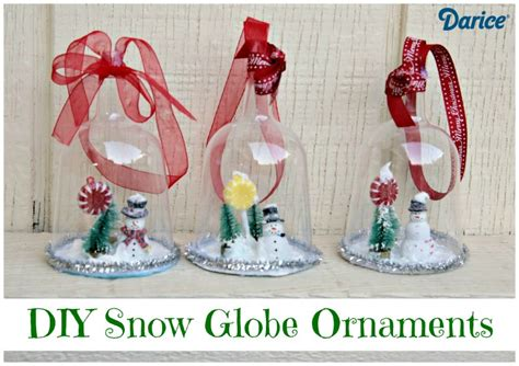 how to mske christmas ornaments with plastic cups diy snow globe ornaments darice
