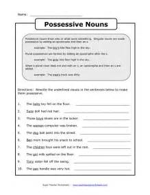 posessive nouns google search reading writing